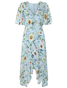 Heidi Print Hanky Hem Dress, Monsoon, £99
