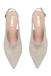 Light Grey Suede Sling-backs, H&M, £39.99