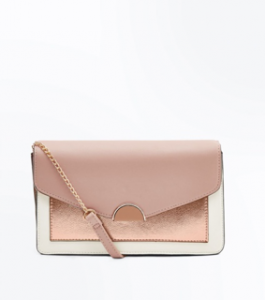 Nude Contrast High Shine Front Clutch, New Look, £15.99