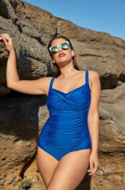 Blue Ruched Swimsuit from Yours